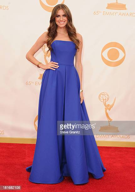 Allison Williams arrives at the 65th Annual Primetime Emmy Awards at Nokia Theatre LA Live on September 22 2013 in Los Angeles California