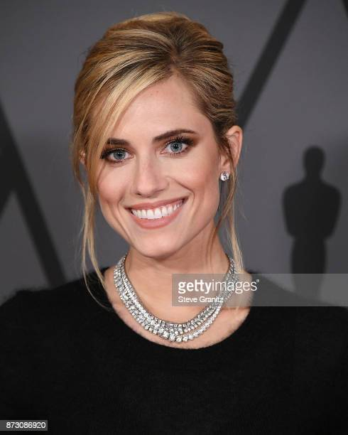 Allison Williams arrives at the Academy Of Motion Picture Arts And Sciences' 9th Annual Governors Awards at The Ray Dolby Ballroom at Hollywood...