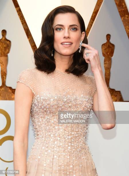 Allison Williams arrives for the 90th Annual Academy Awards on March 4 in Hollywood California / AFP PHOTO / VALERIE MACON