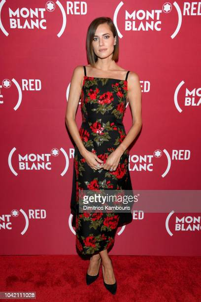 Allison Williams attends as Montblanc And Launch The New RED Collection To Fight AIDS At New York's World Of McIntosh Townhouse at on September 27...