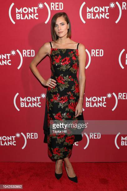 Allison Williams attends Montblanc and 's 'Write End AIDS' celebration at World of McIntosh on September 27 2018 in New York City