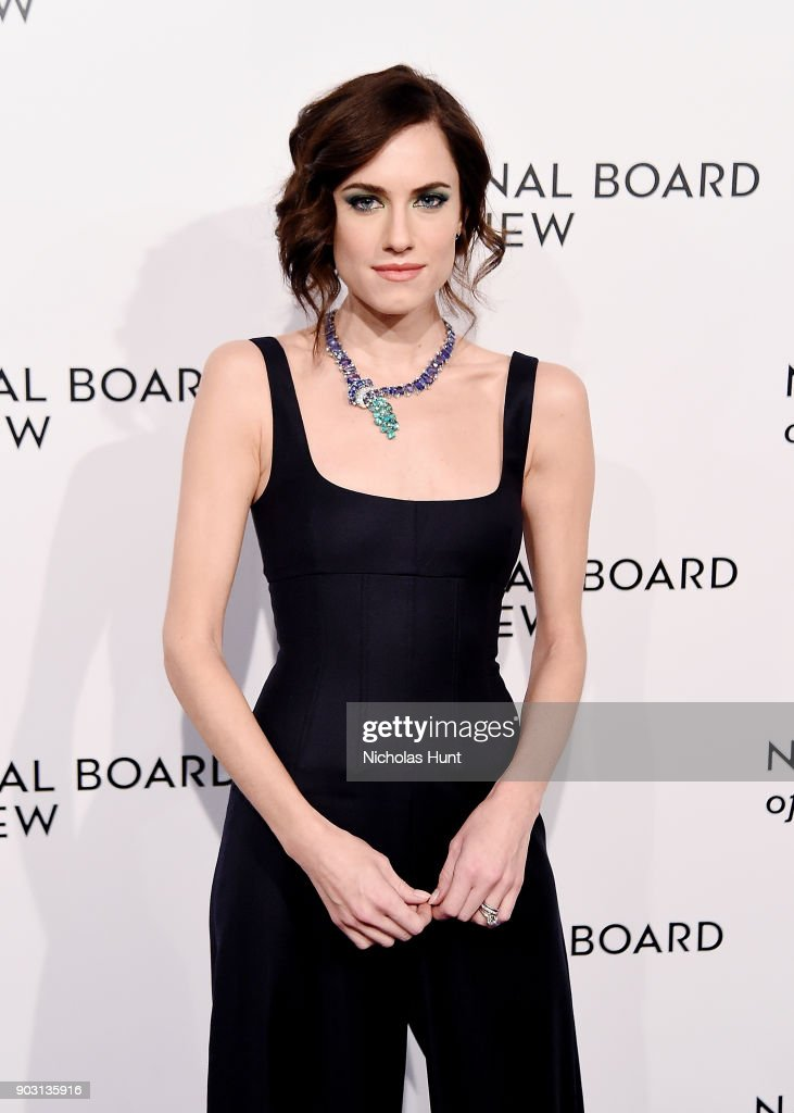 Allison Williams attends the 2018 National Board Of Review Awards Gala at Cipriani 42nd Street on January 9, 2018 in New York City.