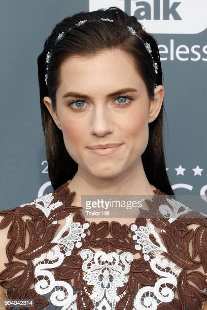 Allison Williams attends the 23rd Annual Critics' Choice Awards at Barker Hangar on January 11 2018 in Santa Monica California