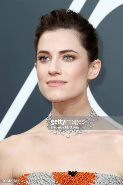 Allison Williams attends The 75th Annual Golden Globe Awards at The Beverly Hilton Hotel on January 7 2018 in Beverly Hills California