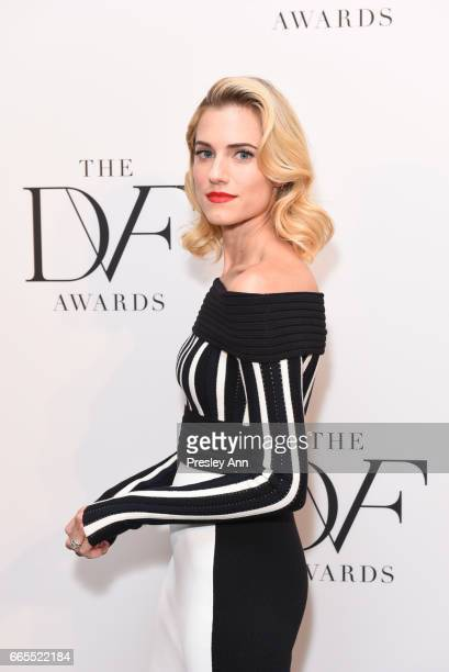 Allison Williams attends The 8th Annual DVF Awards at United Nations on April 6 2017 in New York City