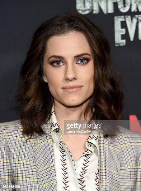 """Allison Williams attends the """"A Series Of Unfortunate Events"""" Season 2 Premiere at Metrograph on March 29, 2018 in New York City."""