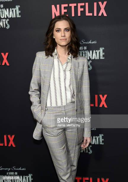 Allison Williams attends the 'A Series Of Unfortunate Events' Season 2 Premiere at Metrograph on March 29 2018 in New York City