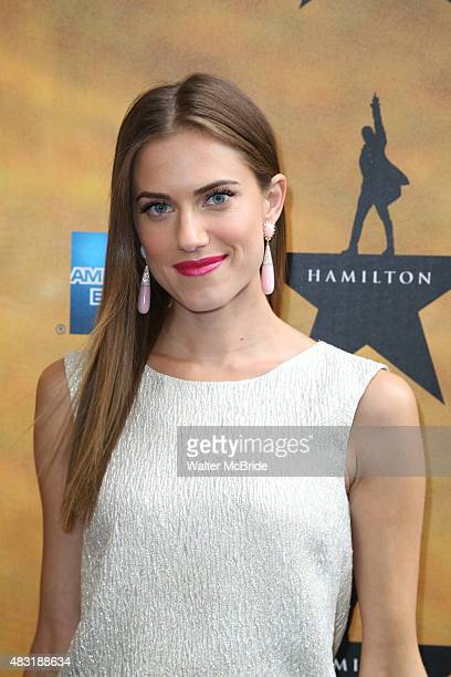 Allison Williams attends the Broadway Opening Night Performance of 'Hamilton at the Richard Rodgers Theatre on August 6 2015 in New York City