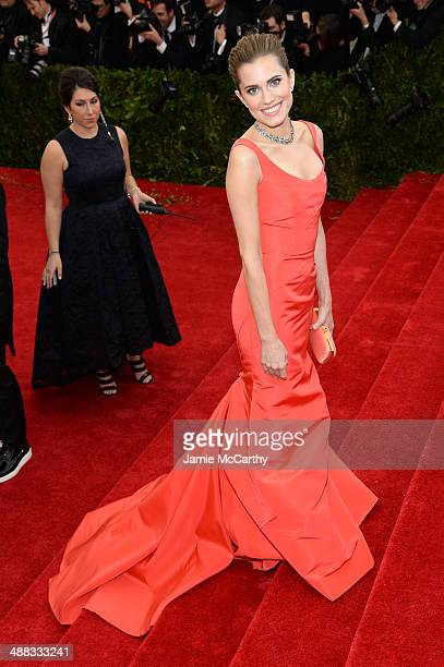 """Allison Williams attends the """"Charles James: Beyond Fashion"""" Costume Institute Gala at the Metropolitan Museum of Art on May 5, 2014 in New York City."""