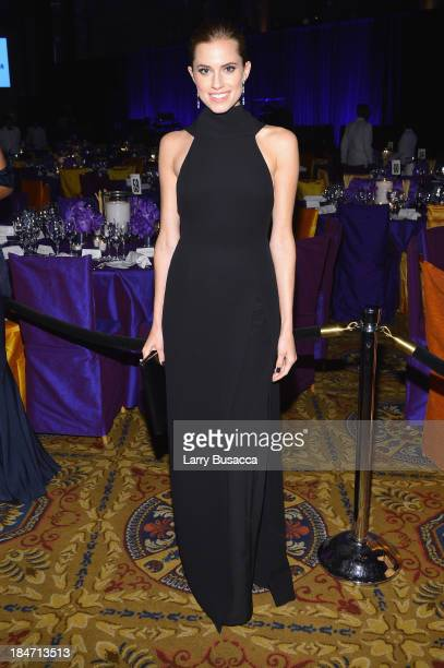 Allison Williams attends the Elton John AIDS Foundation's 12th Annual An Enduring Vision Benefit at Cipriani Wall Street on October 15 2013 in New...