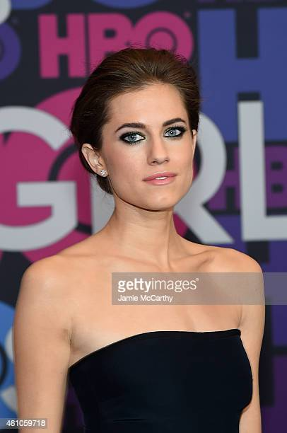 Allison Williams attends the 'Girls' season four series premiere at American Museum of Natural History on January 5 2015 in New York City