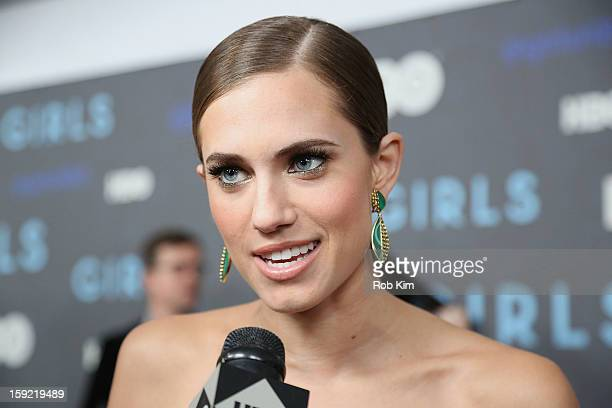"""Allison Williams attends the HBO """"Girls"""" season 2 premiere at the NYU Skirball Center on January 9, 2013 in New York City."""