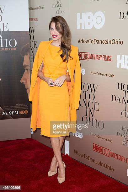 Allison Williams attends the How To Dance In Ohio premiere at Time Warner Center on October 19 2015 in New York City