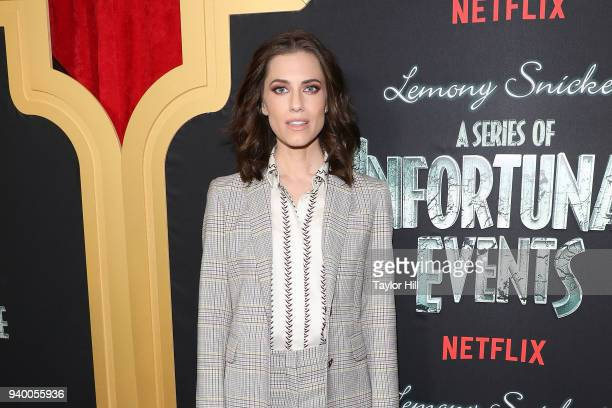 Allison Williams attends the the Season 2 premiere of Netflix's 'A Series Of Unfortunate Events' at Metrograph on March 29 2018 in New York City