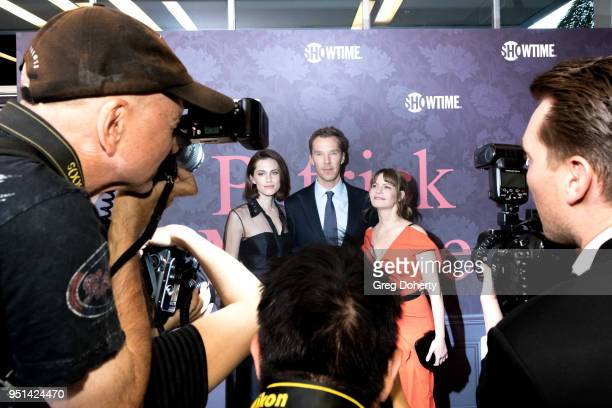 Allison Williams Benedict Cumberbatch and Jennifer Jason Leigh attend the Patrick Melrose Series Premiere at Linwood Dunn Theater on April 25 2018 in...