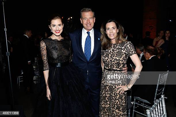 Allison Williams Brian Williams and Jane Stoddard Williams attend the Winter Ball for Autism at Metropolitan Museum of Art on December 2 2013 in New...