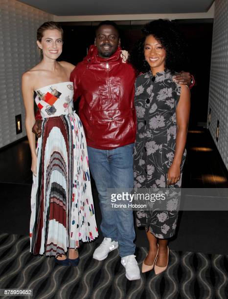 Allison Williams Daniel Kaluuya and Betty Gabriel attend the SAGAFTRA Foundations conversations and screening of 'Get Out' at Pacific Design Center...