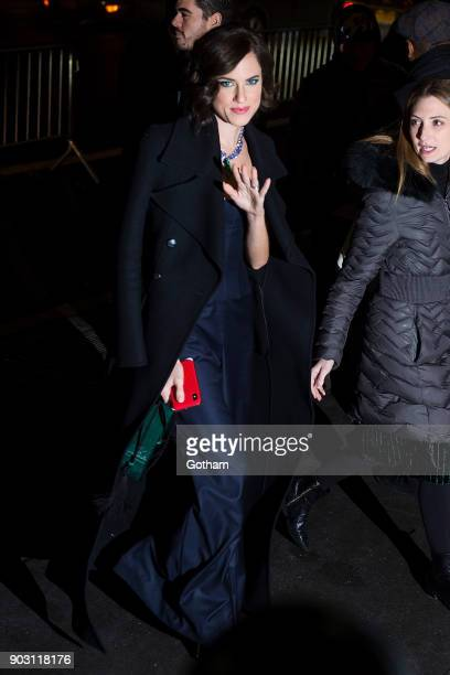 Allison Williams is seen in Midtown on January 9 2018 in New York City