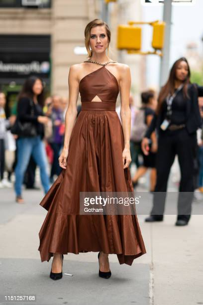 Allison Williams is seen outside the Build Studio on May 23, 2019 in New York City.