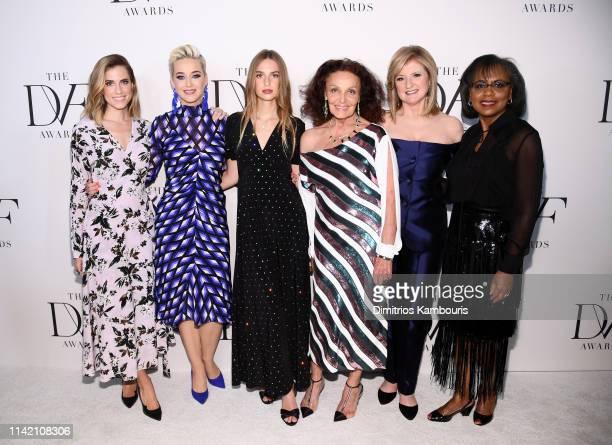 Allison Williams Katy Perry Talita von Furstenberg Diane von Furstenberg Arianna Huffington and Anita Hill attends 10th Annual DVF Awards at Brooklyn...