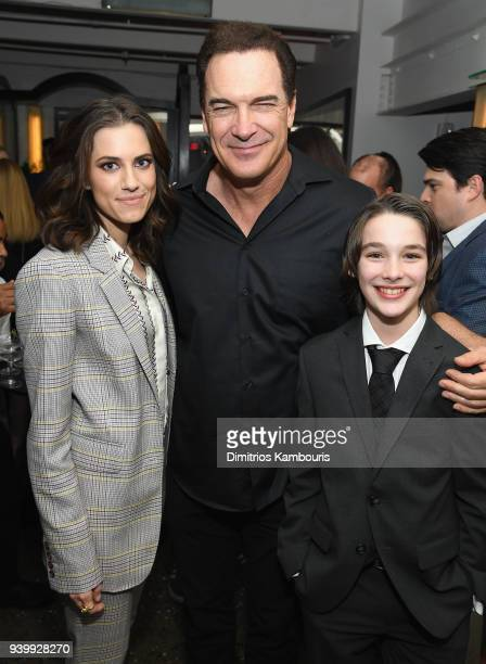 Allison Williams Patrick Warburton and Dylan Kingwell attend the Netflix Premiere of A Series of Unfortunate Events Season 2 on March 29 2018 in New...