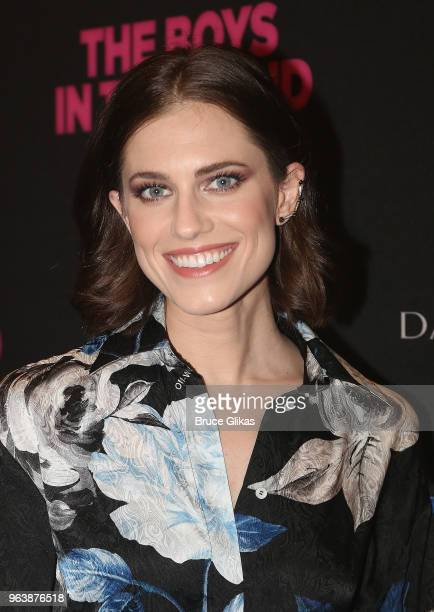 Allison Williams poses at the opening nightof the 50th year celebration of the classic play revival of The Boys In The Band on Broadway at The Booth...