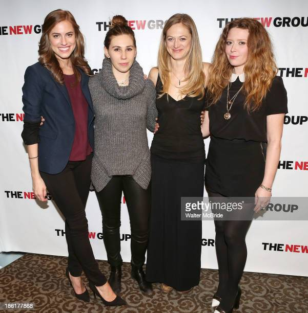 Allison Williams Zosia Mamet Marin Ireland and Natasha Lyonne attend the 'Crimes Of The Heart' benefit reading for The New Group at Acorn Theatre on...
