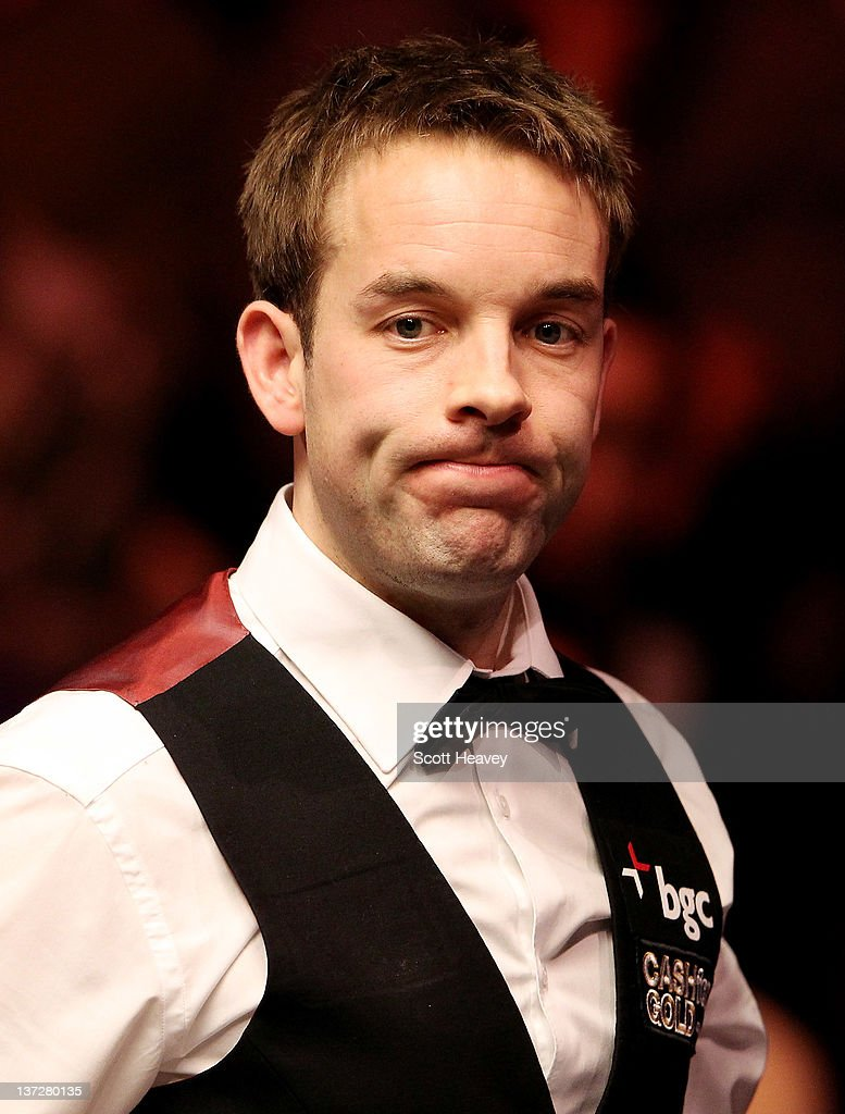 Allister Carter reacts during his match with Graeme Dott during day four of The Masters at Alexandra Palace on January 18, 2012 in London, England.