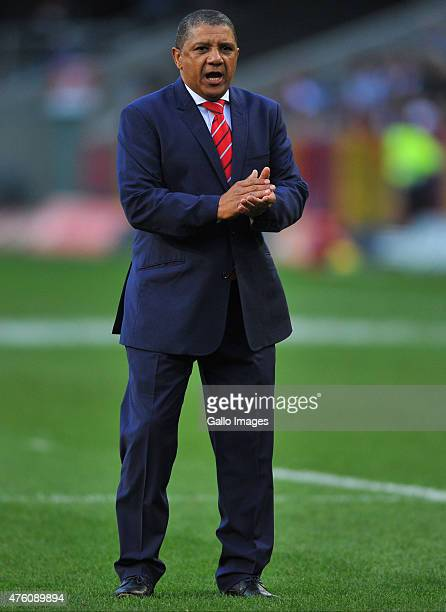 Allister Coetzee coach of the Stormers prior the Super Rugby match between DHL Stormers and Emirates Lions at DHL Newlands Stadium on June 06 2015 in...