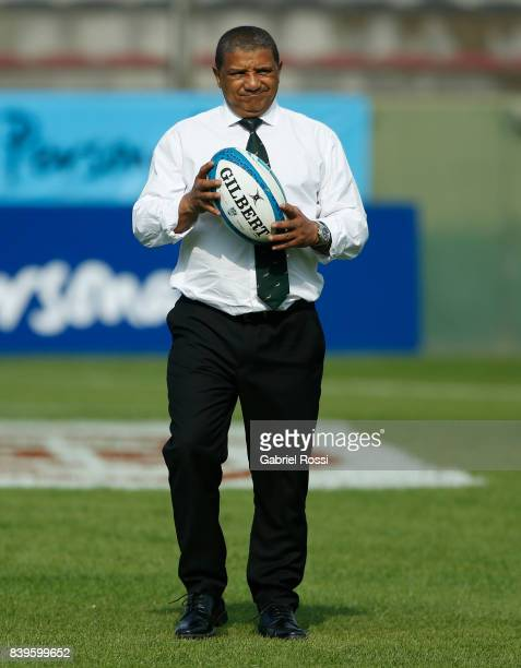 Allister Coetzee head coach of South Africa looks on prior the round two match between Argentina and South Africa as part of The Rugby Championship...