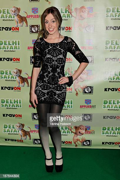 Allisyn Arm attends the Delhi Safari Los Angeles premiere at Pacific Theatre at The Grove on December 3 2012 in Los Angeles California