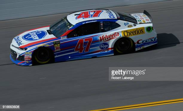 Allmendinger driver of the Kroger ClickList Chevrolet practices for the Monster Energy NASCAR Cup Series Daytona 500 at Daytona International...
