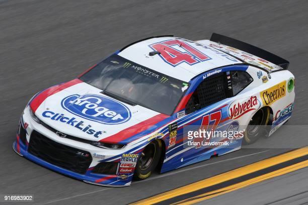 Allmendinger driver of the Kroger ClickList Chevrolet qualifies for the Monster Energy NASCAR Cup Series Daytona 500 at Daytona International...