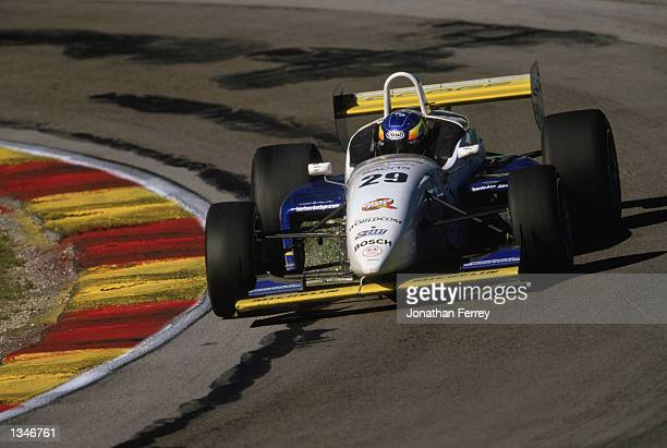 Allmendinger drives one of the identical Reynard Dodge V6s during the Barber Dodge Pro Series Round 9 for the Official Entry Level Professional...