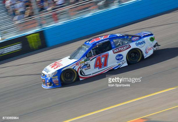 Allmendinger Frys Checklist Chevrolet JTG Daugherty on the track during the race at the NASCAR Playoff Can Am 500 on November 12 2017 at the Phoenix...
