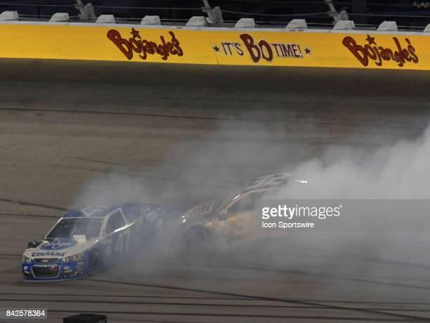 J Allmendinger JTG/Daughtery Racing Kroger Clicklist Chevrolet SS is hit by Matt DiBenedetto GO FAS Racing Corvettepartsnet/Keen Parts Ford Fusion...