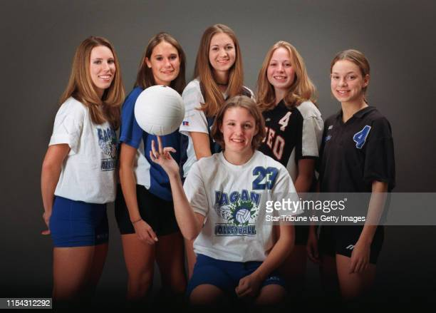 AllMetro volleyball team photo shoot All six members of the AllMetro team will be here Seated is Sarah Rome from Eagan left to right in back of her...