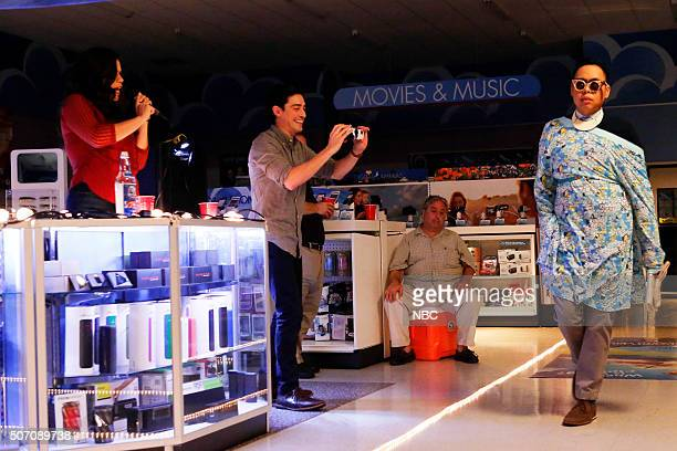 "All-Nighter"" Episode 109 -- Pictured: America Ferrera as Amy, Ben Feldman as Jonah, Nico Santos as Mateo --"
