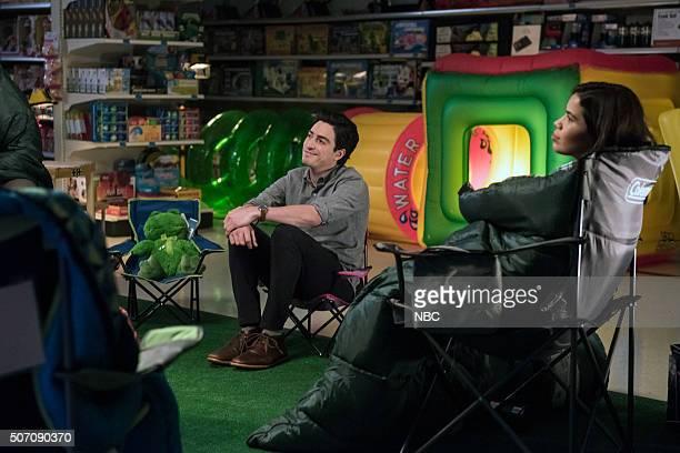 SUPERSTORE 'AllNighter' Episode 109 Pictured Ben Feldman as Jonah America Ferrera as Amy