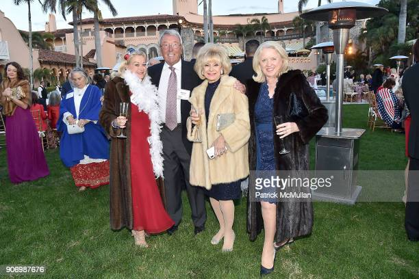 Allola McGaw Peter Roles Trisha Zorn and Irene Freeman attend President Trump's one year anniversary with over 800 guests at the winter White House...