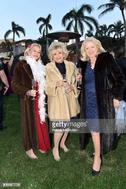 Allola McGaw Trisha Zorn and Irene Freeman attend President Trump's one year anniversary with over 800 guests at the winter White House at MaraLago...