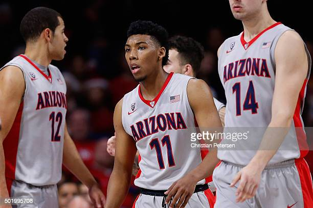 Allonzo Trier of the Arizona Wildcats during the college basketball game against the Northern Arizona Lumberjacks at McKale Center on December 16...