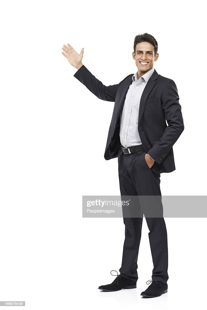 Allow me to introduce your copyspace : Stock Photo