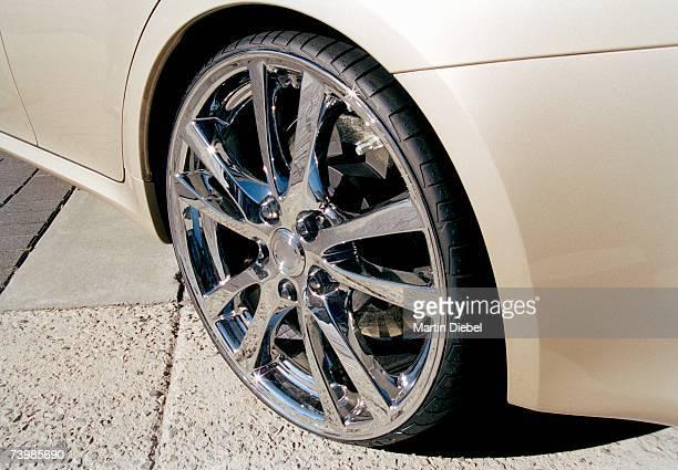 Alloy wheel on a sports car