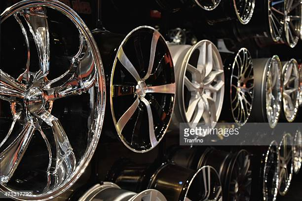 Alloy wheels on the motor show