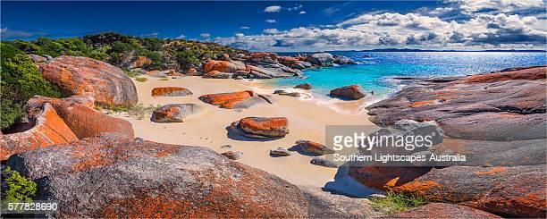 All-ports beach on the Western coastline of Flinders Island, Bass Strait, Tasmania.