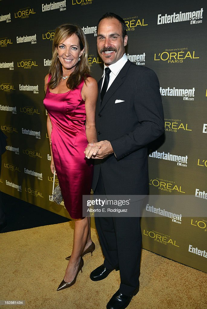 Allsion Janney and Guest attend The 2012 Entertainment Weekly Pre-Emmy Party Presented By L'Oreal Paris at Fig & Olive Melrose Place on September 21, 2012 in West Hollywood, California.