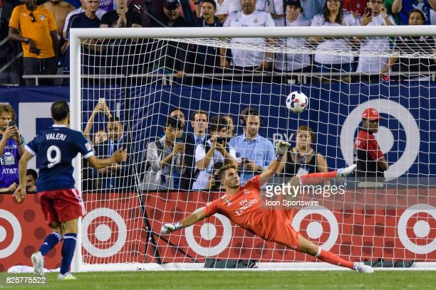 AllStar and Portland Timbers Midfielder Digo Valeri scores a postgame penalty kick on Real Madrid goalkeeper Luca Zidane during a soccer match...