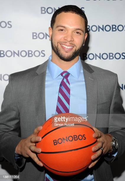 AllStar Deron Williams attends the Bonobos New Foundation Suit Collection launch at Catch Roof on February 2 2012 in New York City