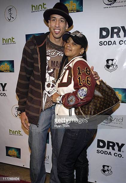 NBA Allstar Doug Christie and wife Jackie Christie arrive at Music Smash 2008 at the Celebrity Centre in Hollywood California on February 13 2008